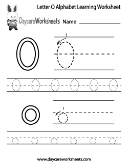 Preschool Letter O Alphabet Learning Worksheet