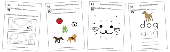 free preschool worksheets - Preschool Pages To Print