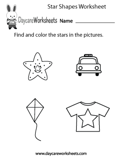 Preschool Star Shapes Worksheet