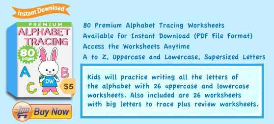 Premium Alphabet Tracing Worksheets Collection Details