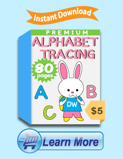 Premium Alphabet Tracing Worksheets Package