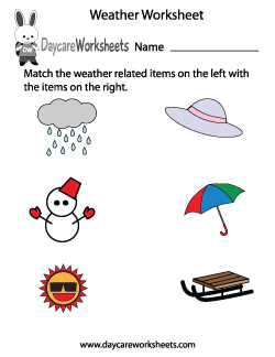 Preschool Weather Worksheet