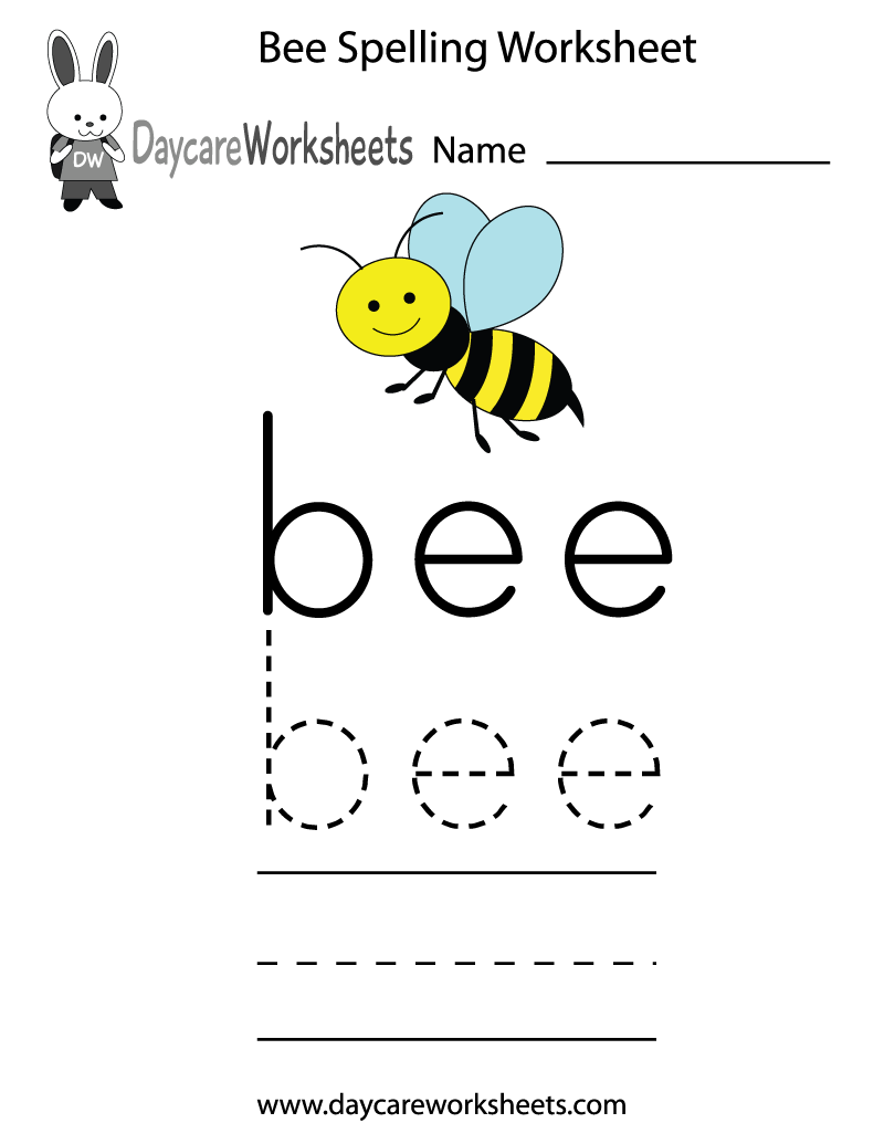 Worksheets Kindergarten Spelling Worksheets free preschool bee spelling worksheet