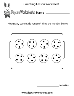 Preschool Counting Lesson Worksheet