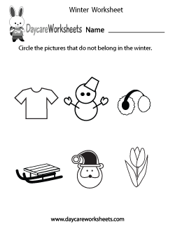 Preschool Winter Worksheet
