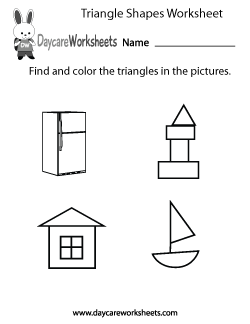 Preschool Triangle Shapes Worksheet