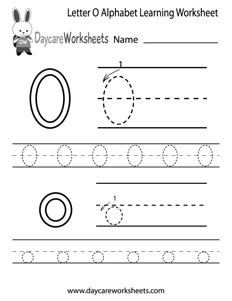 Preschool Letter O Alphabet Learning Worksheet Printable