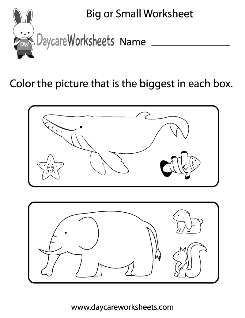 Daycare Worksheets
