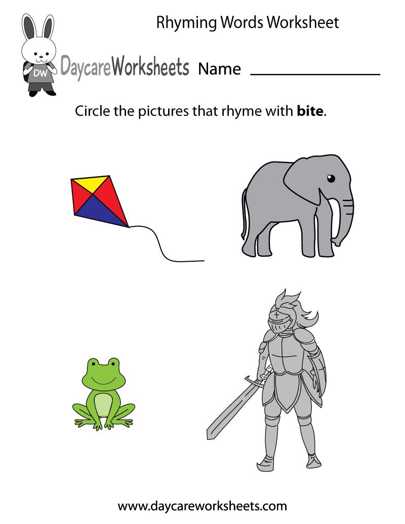 Worksheet Rhyming Activities Preschool Wosenly Free Worksheet – Fundations Worksheets