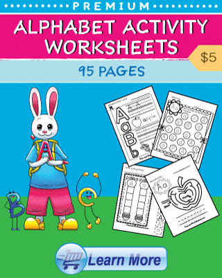 Alphabet Activity Worksheets Cover