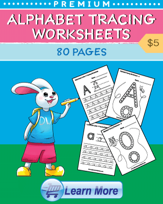 Alphabet Tracing Worksheets Cover