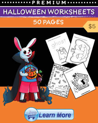 Halloween Worksheets Cover