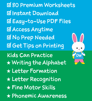 Details of Our Alphabet Tracing Worksheets