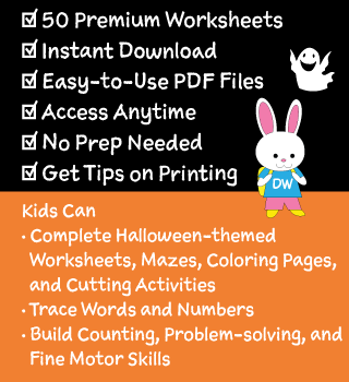 Details of Our Halloween Worksheets