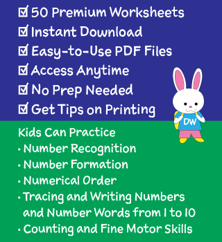 Details of Our Numbers Worksheets